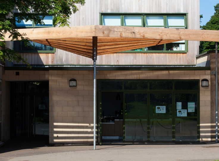 School Larch Canopy and External Classroom - Feilden Fowles Architects Architecture Design Contemporary Structure Timber Canopy & 16 best architectural Canopies images on Pinterest | Frostings ...