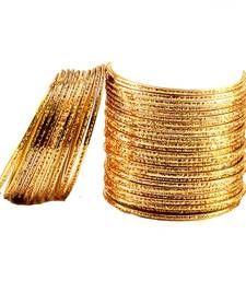 Buy preety bangles Color-Golden bangles-and-bracelet online