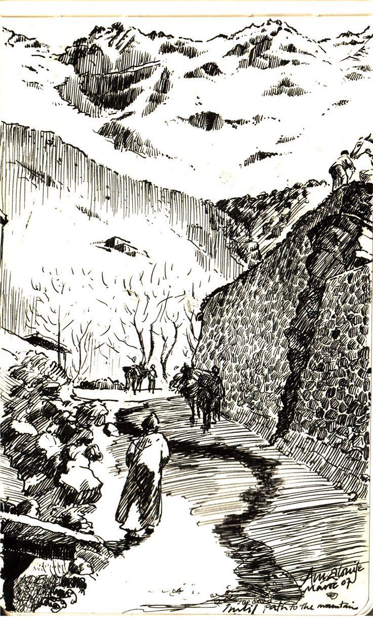 Imlil Mountains | Pen Drawings