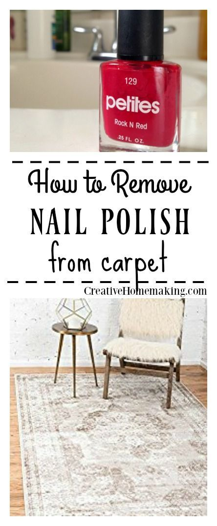 If you find yourself with bright red nail polish spilled on your favorite carpet, don't panic! Here are many expert tips for removing nail polish from carpet. #cleaning #cleaninghints #cleaninghacks #creativehomemaking
