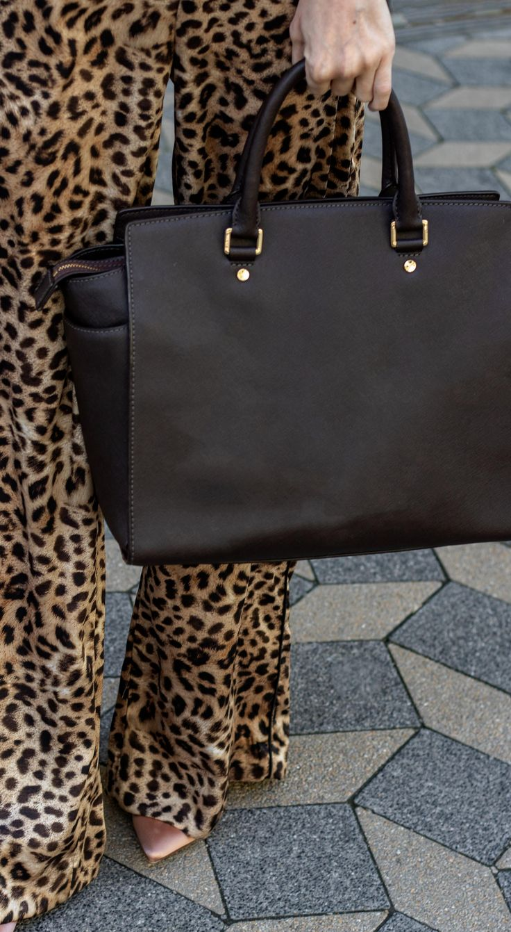This is How to Wear Leopard Pants for Work