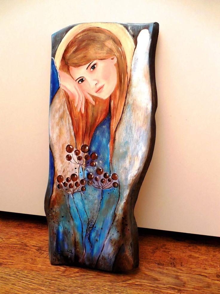 Angel, original oil painting