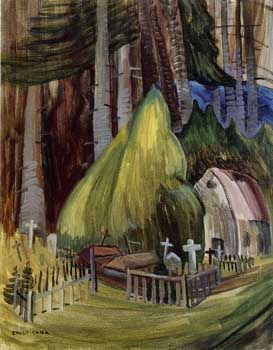 West Coast Cemetery, Forest Edge (Indian Church, Forest Edge) Emily Carr - Canadian