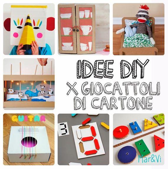 Mar&Vi Creative Studio - Italia: Idee DIY: Giocattoli di cartone fai da te #cardboard #diy #kids