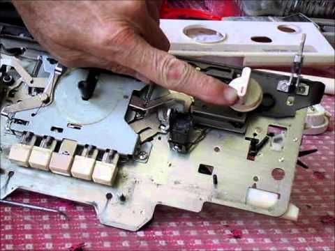 dismantling and deep cleaning a brother carriage - YouTube