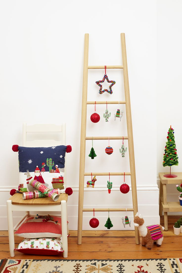 Create an alternative Christmas tree by decorating your ladder shelf with novelty baubles, perfect for small spaces this festive season. Inspired by Peruvian traditions, our Lima Llama add an injection of vibrancy to your home. Be bold with colour and step away from tradition with a contemporary ladder tree stylishly adorned with festive ornaments.