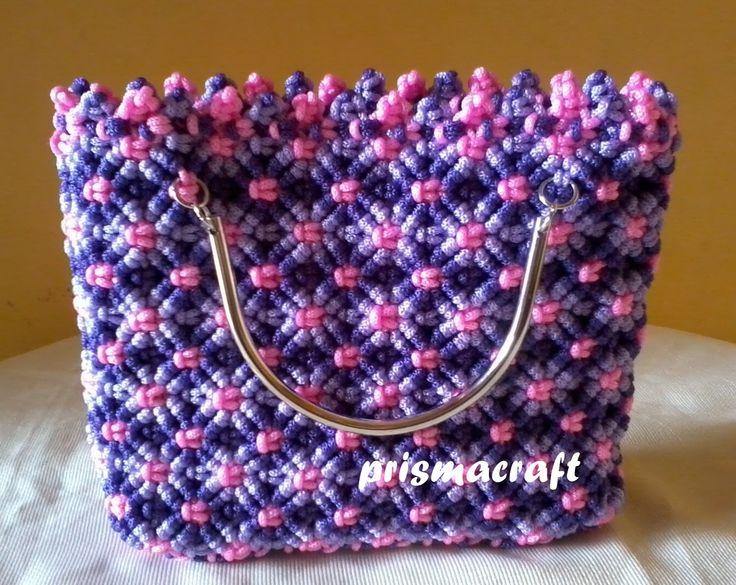 handbag macrame ~prismacraft