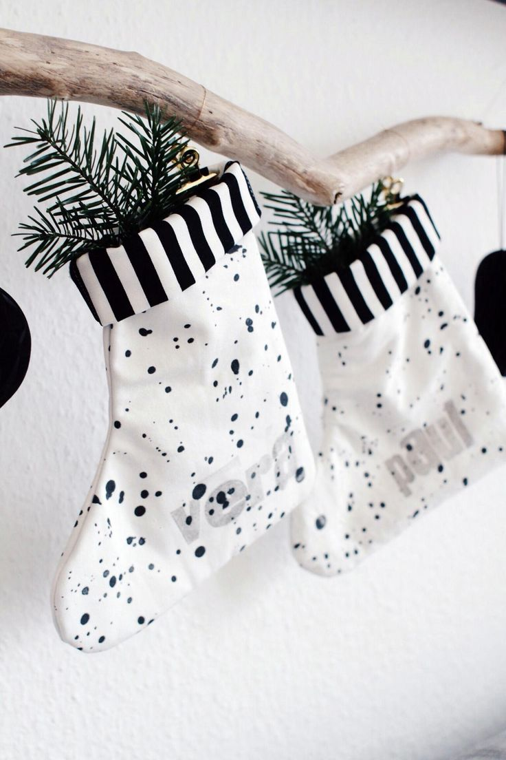 Nikolausstiefel nähen | Nikolaussäckchen | Nikolausstrumpf | einfach nähen | Weihnachten | Nikolaus | basteln für Kinder | Schnittmuster