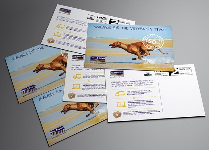 Fish4Dogs Vet Trade Postcards by Method Design