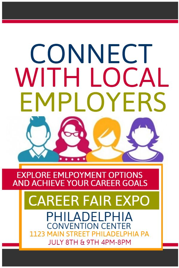 Job Expo flyer design template. Click to customize.