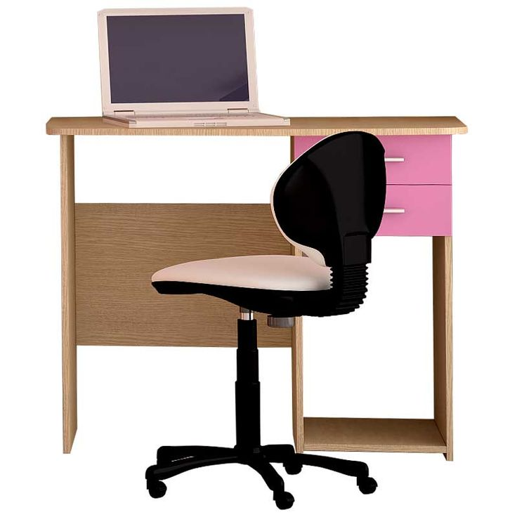 Παιδικό γραφείο χρώμα δρυς-ροζ 100x55x80εκ.