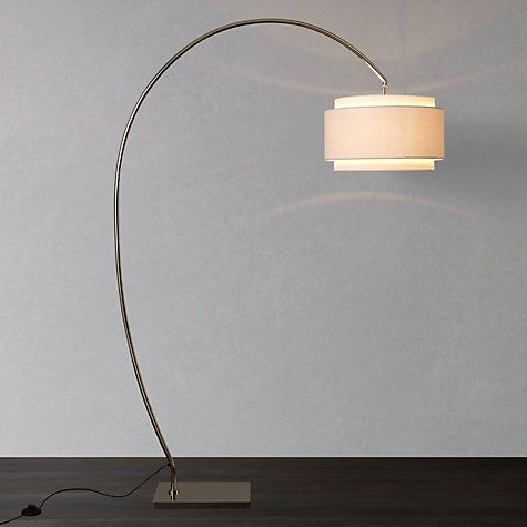 Floor lamp for table - option. Think this one is my favourite. John Lewis Evie Curve Floor Lamp £200 #FloorLamps