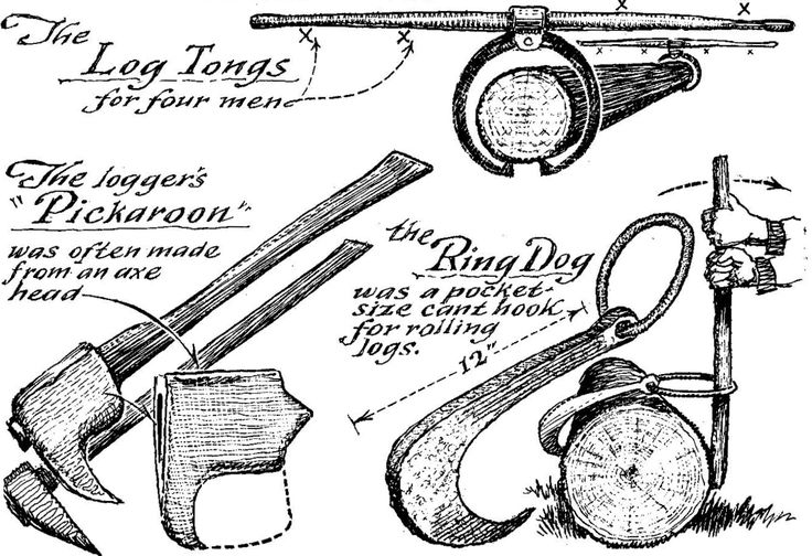 Loggers' tools. (Courtesy of Museum of Early American Tools, by Eric Sloane)