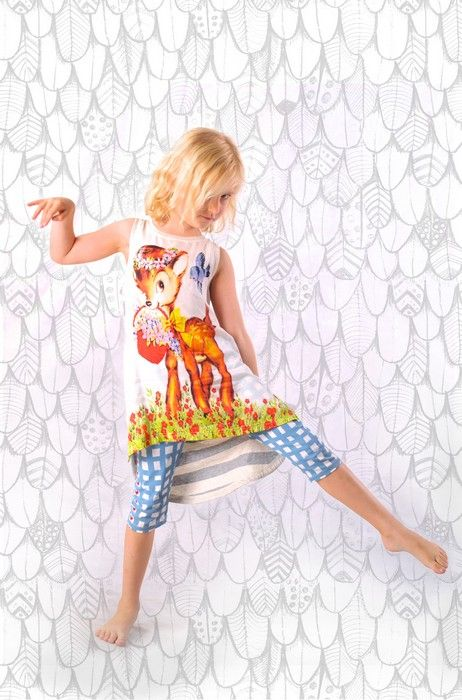 Paper Wings Summer 14Product Paper Wings Girls Spring Deer High Low Singlet DressProduct code S14N610