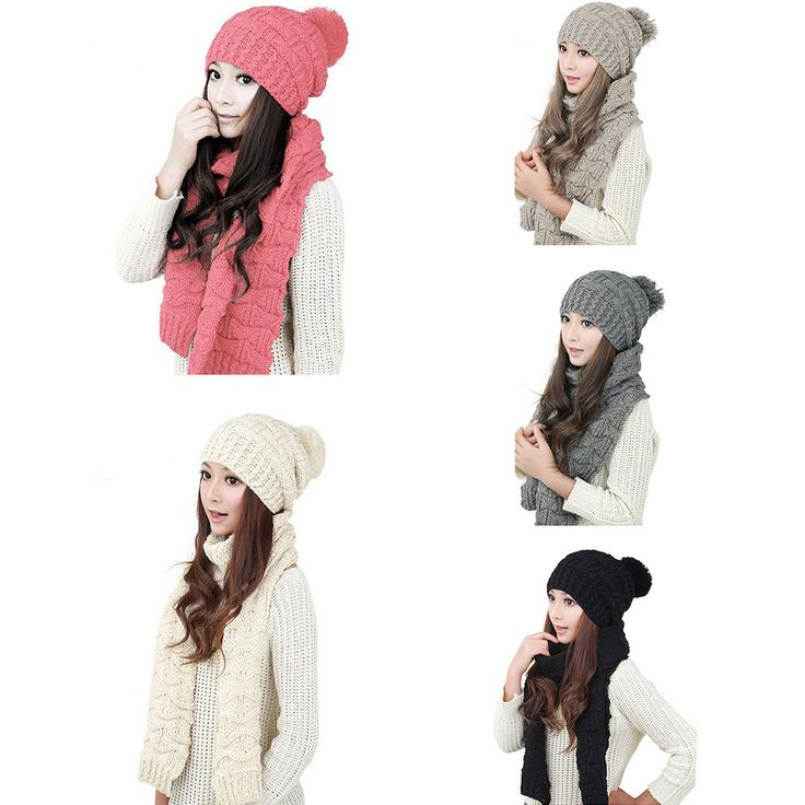 http://www.ebay.com/itm/Women-Winter-Warm-Knitted-Ski-Caps-Beanie-Crochet-Neck-Wrap-Scarf-Hat-2-in1-Set-/282176000078?var=