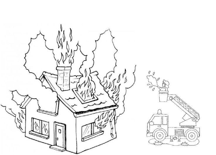 Картинки на тему огонь раскраска