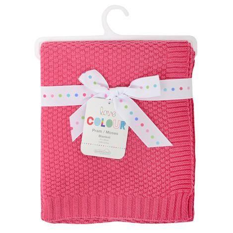 Silvercloud Cotton Blanket in  Raspberry