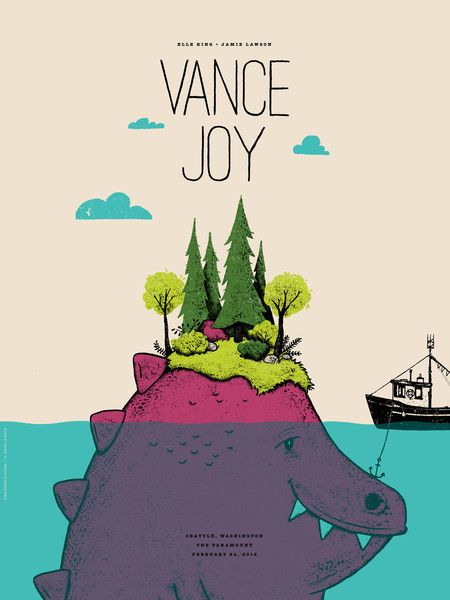 Vance Joy poster by Factory 43
