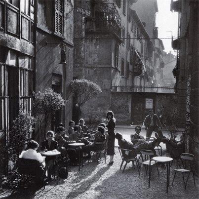 Milano, Bar Jamaica, 1954 by Ugo Mulas