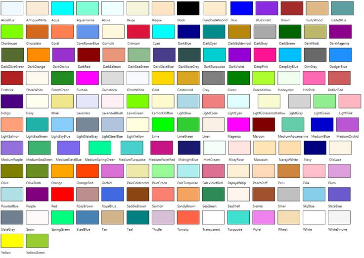 Crayola Color Chart With Names 547 Specifying Colors