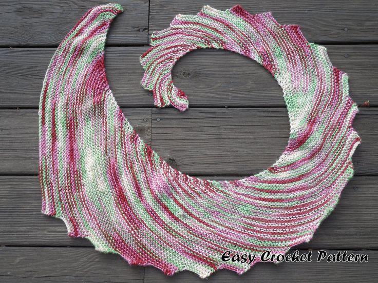 Mejores 35 imágenes de bufandas y chales en Pinterest | Patrones de ...