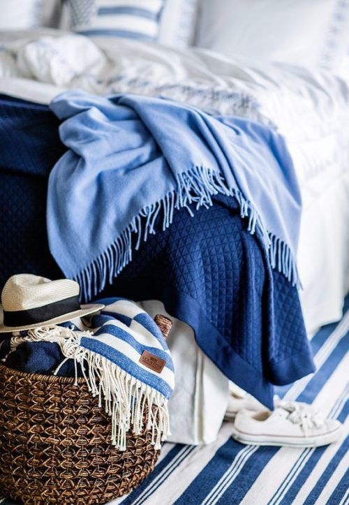 summer bedroom decor ideas living with lexington bright bazaar by will taylor - Blue And White Bedroom Designs