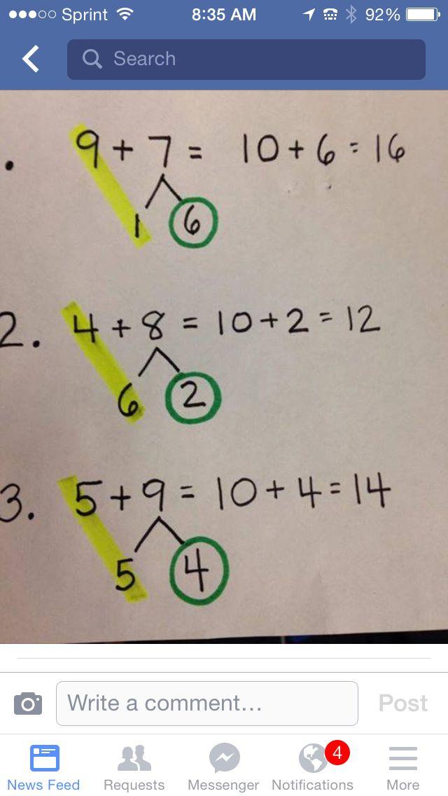Number strings, making 10 visual from Making Lemonade in Second Grade.