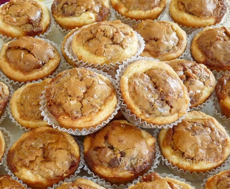 Pecan Toffee Tassies ~T~ This is a slightly different version of my favorite cookie. I often make my version for weddings and other catering events. I look forward to seeing how these turn out.