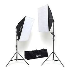 ESDDI Photography Softbox Continuous Lighting System Photo Studio Equipment Kit