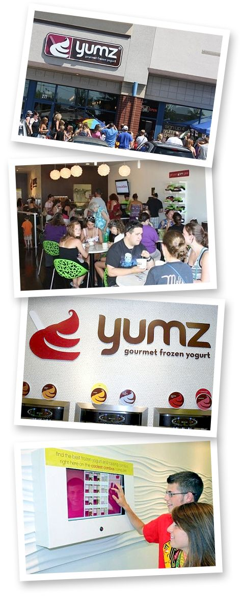 Yumz Gourmet Frozen Yogurt is a great franchise.  If you've been looking into owning a business, we offer an amazing opportunity.  Be your own boss and enjoy making customers happy with the best tasting frozen yogurt on the planet.  visit www.YumzFrozenYogurt.com/franchise for more info.