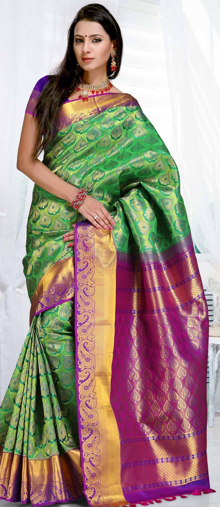 Buy online wedding silk sarees.IKS7005