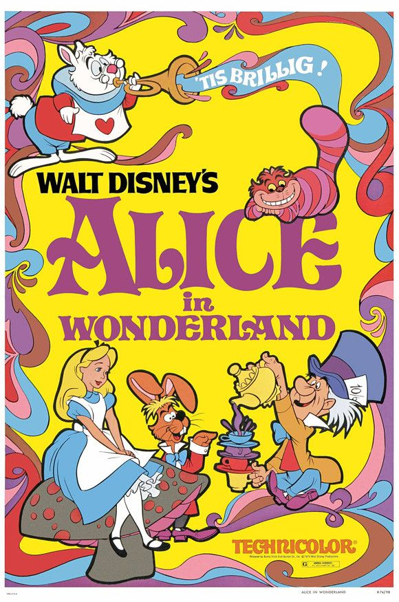 """CAST: Kathryn Beaumont, Ed Wynn, Richard Haydn, Sterling Holloway; DIRECTED BY: Clyde Geronimi, Wilfred Jackson; PRODUCER: Walt Disney; Features: - 27"""" x 40"""" - Packaged with care - ships in sturdy rei"""