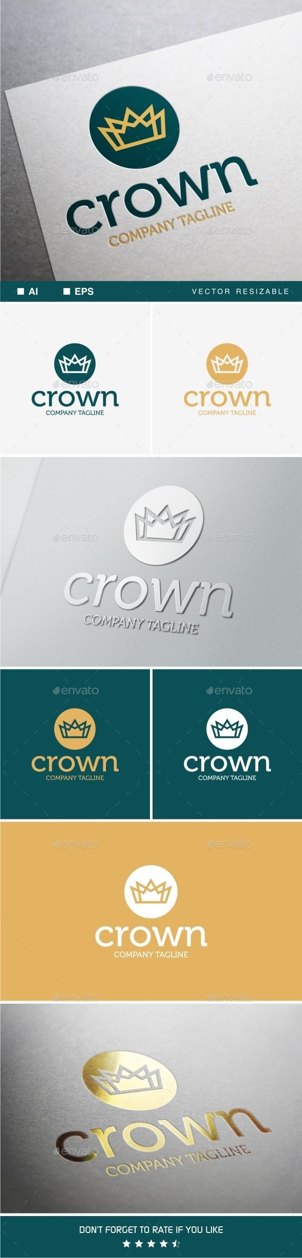 Crown Logo Template #design Download: http://graphicriver.net/item/crown-logo-template/9904852?ref=ksioks