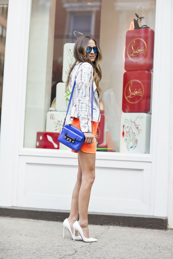 Shoe shopping at Christian Louboutin with Arielle clothing Skirt ...