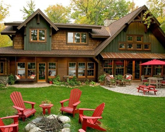 20 different exterior designs of country homes backyards for Rustic board and batten homes