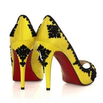 awesome Black and yellow shoes