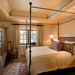 Octagon tray ceiling design pictures remodel decor and for Simple and sober bedroom designs