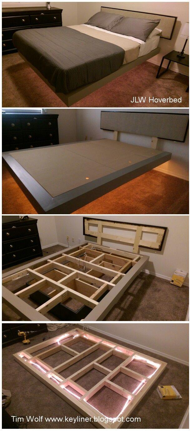 Pin by Jordynschofieldd on Room Floating platform bed