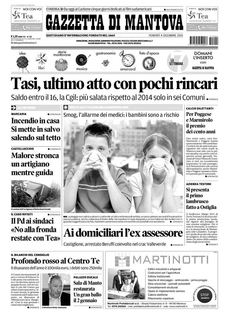 MYYOUR on Press / Decembre 2015 / Gazzetta di Mantova
