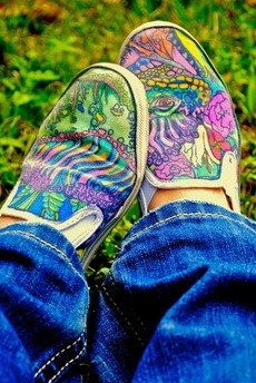 I want to decorate shoes with Sharpies.