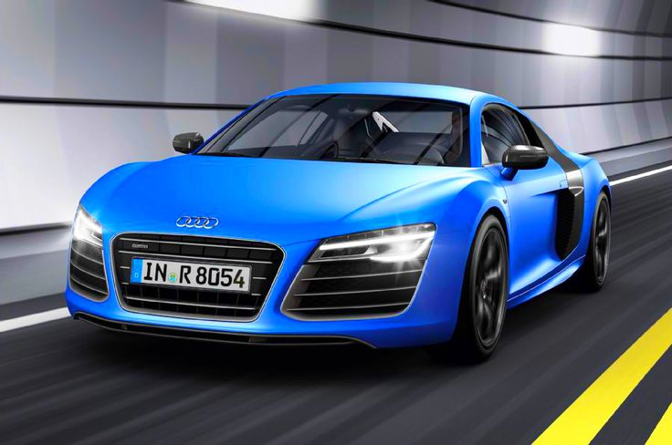 I photoshopped this Audi R8 for better color and lighting.