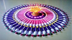 Diwali Special Rangoli Designs Using Spoon| Diwali Rangoli by Shital Mah...