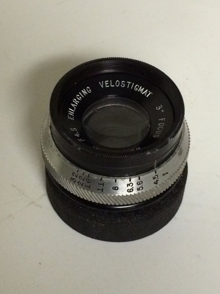 Antique Brass 3 INCH F 4.5 Wollensak VELOSTIGMAT ENLARGING Lens -Very Clean