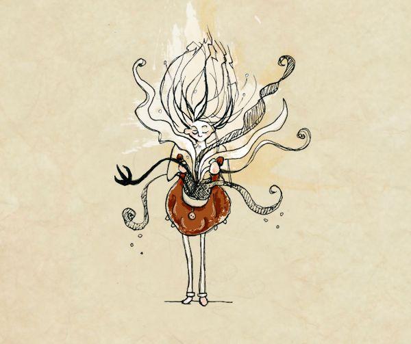 """La parola bella """"BOLGIA"""" in un'illustrazione di Mariachiara Tirinzoni"""
