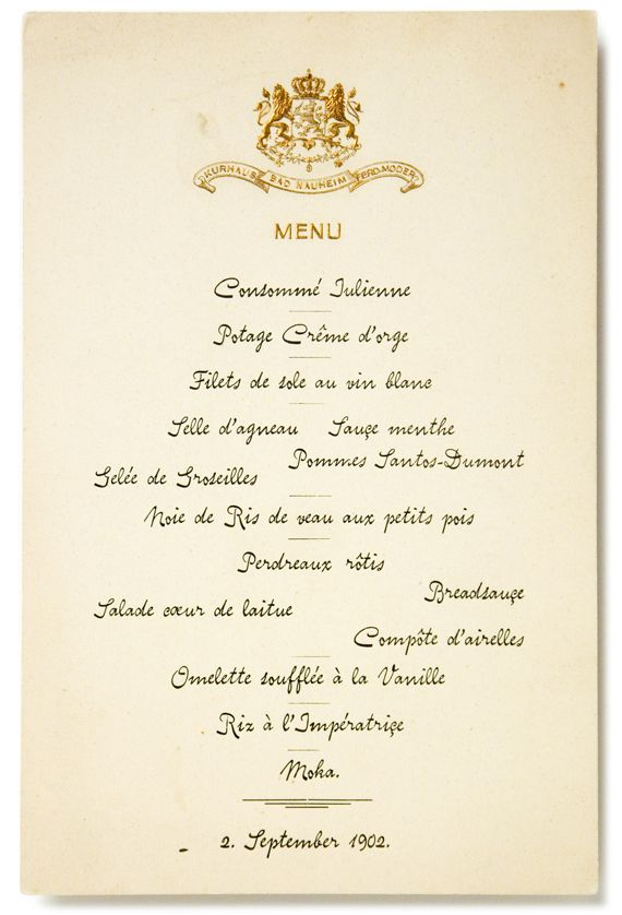 French Menu An Invitation To A Candlelight Dinner