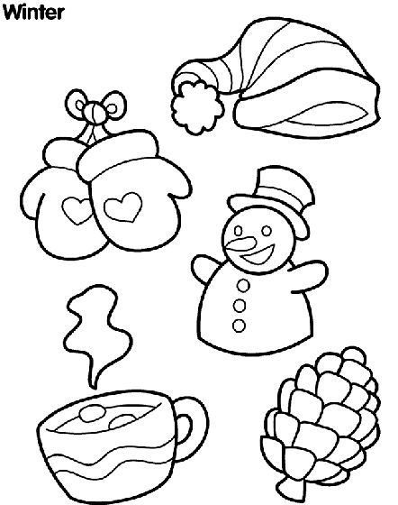 Wonderful Winter coloring page