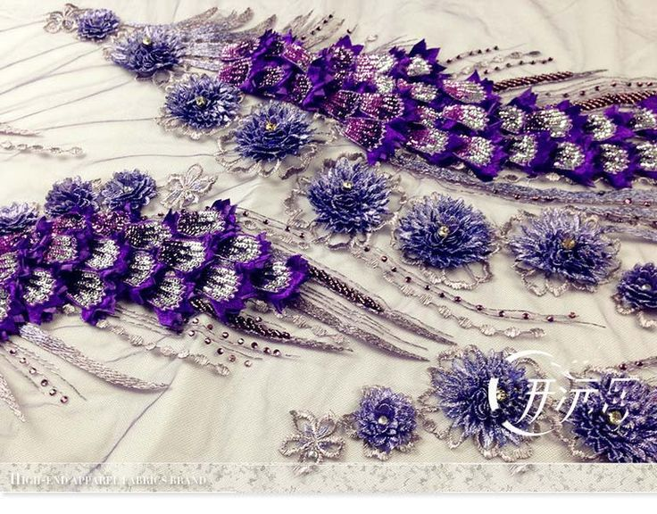 Aliexpress.com : Buy 120*60cm wide purple peacock embroidered three dimensional flowers lace fabric for wedding dress DIY patchwork material from Reliable Fabric suppliers on Beautiful Baby 007 | Alibaba Group