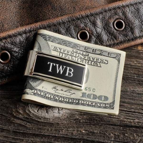 Personalized Millionaire Silver Money Clip Monogrammed Groomsmen Gift #Unbranded