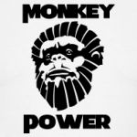 Monkey Power T Shirt. Inspired by the Planet of the Apes