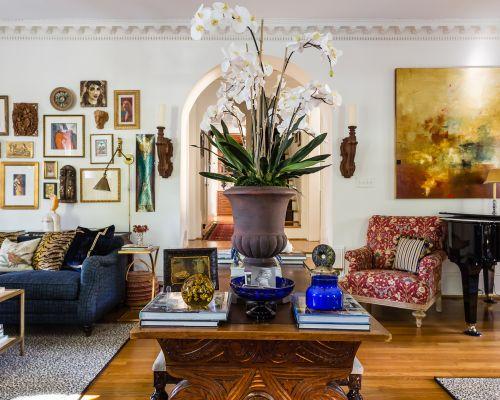 raleigh nc interior design spanish bohemian living room updated